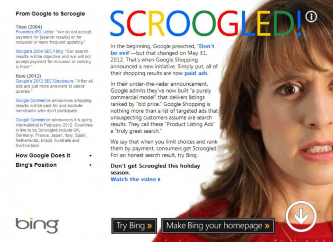 Microsoft incrementa sus anuncios contra Google