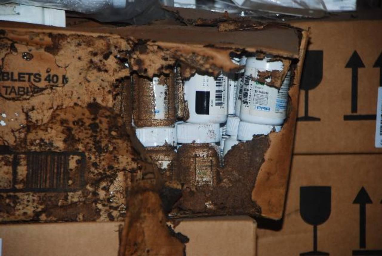 Una considerable cantidad de productos vencidos debe ser destruida en el hospital unionense. Ya se abrió una licitación para ello. Foto EDH / francisco torres