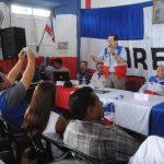 Alcaldes de La Paz en primera fila en un encuentro con el Coena. foto edh/ lissette monterrosa