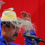 En la Guaira, al norte de Caracas, Maduro uso un sombrero con un pájaro, regalo de una nicaragüense. Foto EDH / Reuters