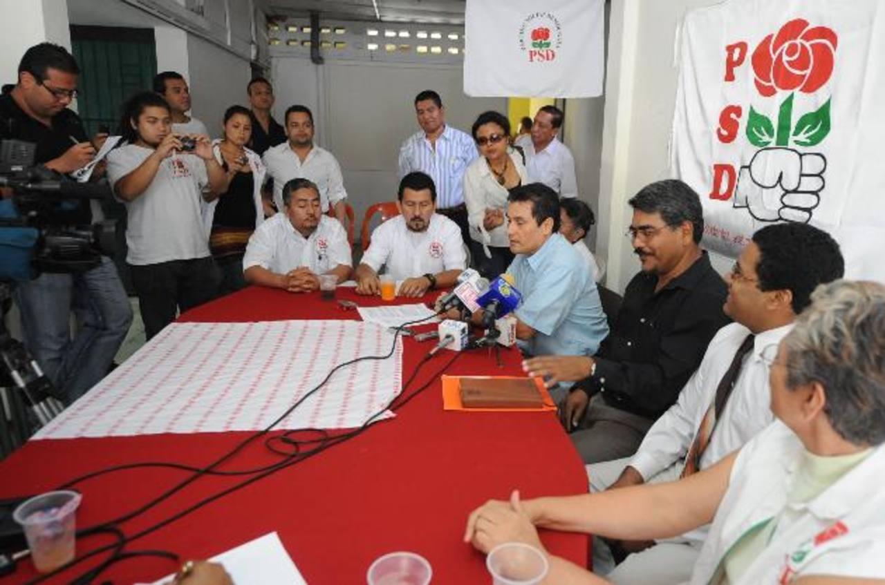 El Partido Social Demócrata (PSD) ya concluyó el proceso de recolección de firmas. Espera ser notificado. foto edh / ARCHIVO