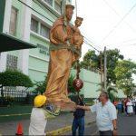 La imagen permanecerá en el colegio; mientras las autoridades consiguen los fondos. foto edh / CRISTIAN DÍAZ