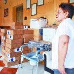 El material fue entregado en la presente semana a las encargadas de la manutención del asilo. Foto EDH / Lucinda Quintanilla