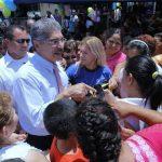 Quijano fue recibido por cientos de simpatizantes, que residen en varios sectores del barrio San Jacinto, al sur de la capital.