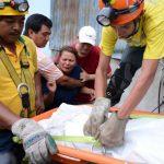 El cuerpo de Marcial Castillo (27 años) fue hallado con un disparo en la frente, en el río Acelhuate. Foto EDH / Mauricio Cáceres