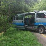Cuatro vehículos se vieron involucrados en accidente ocurrido sobre el km 26 y medio de la Autopista a Comalapa. Foto vía Twitter Claudia Castillo
