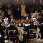 El presidente de Estados Unidos, Barack Obama, durante la cena con los gobernantes de los países de Centroamérica en San José, Costa Rica. Foto EDH / REUTERS