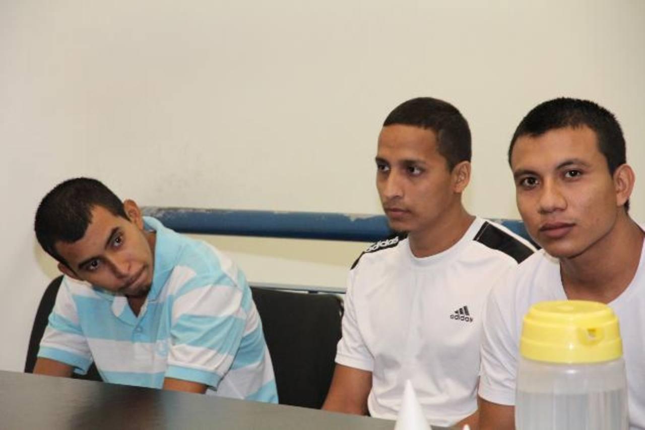 Los tres sujetos condenados son pandilleros de la mara Salvatrucha. Foto EDH / Cortesía Juzgados