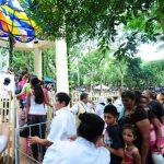 Cientos de fieles católicos se congregaron hoy en el Cerro Las Pavas para conmemorar a la Virgen de Fátima. Foto/ EDH