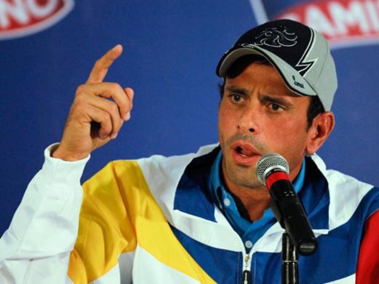 Henrique Capriles dijo que si el Gobierno desea sacarlo de la gobernación de Miranda, debe convocar un referéndum.
