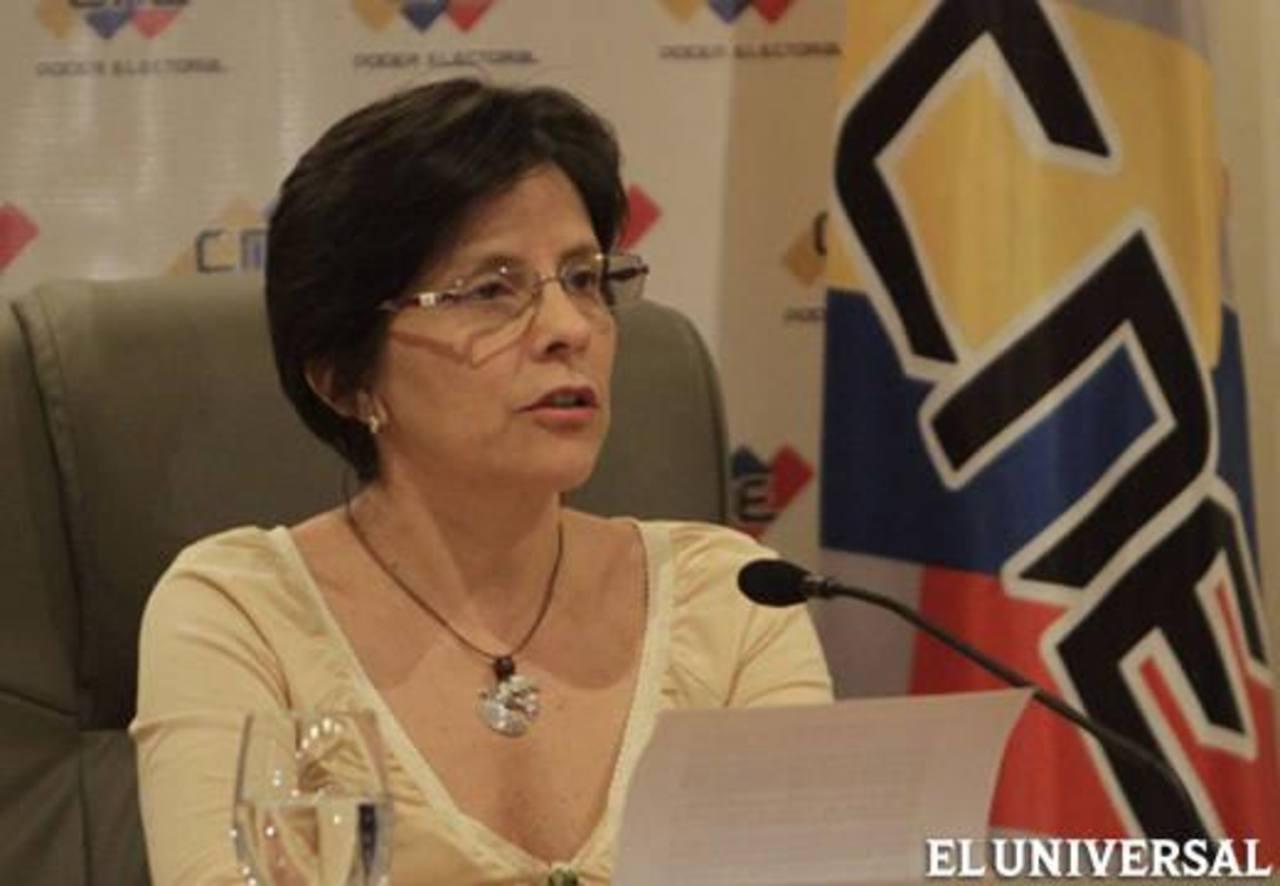 Sandra Oblitas, vicepresidenta del Consejo Nacional Electoral.