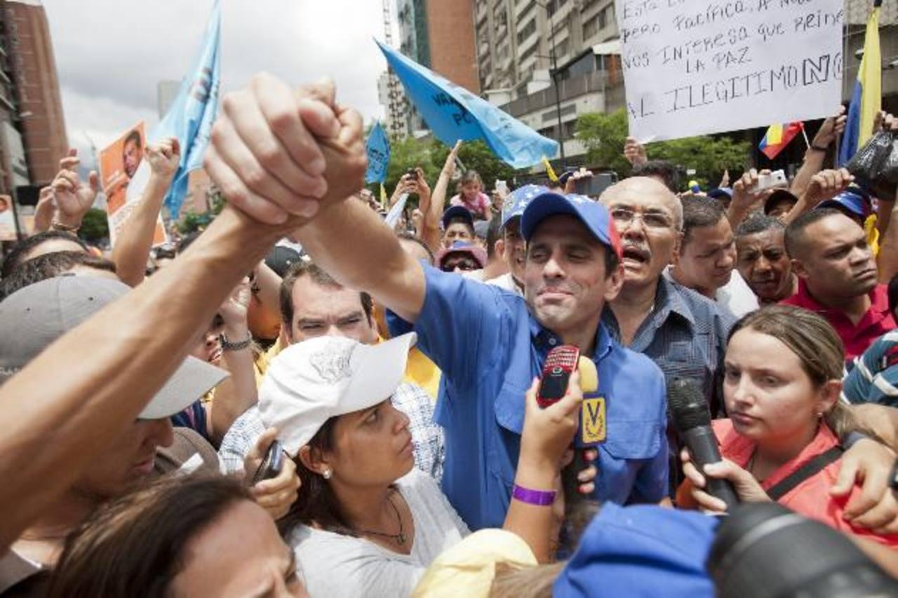 Henrique Capriles repitió que fue víctima de un fraude y que por ello impugnó el proceso electoral ante el Supremo de Justicia, que aún no se pronuncia al respecto. foto edh / archivo