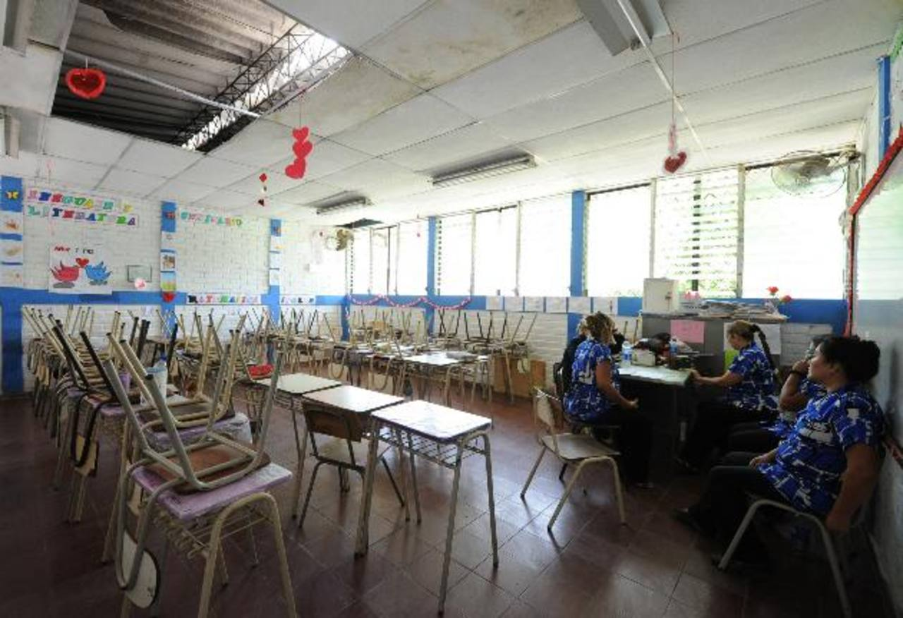El martes los docentes del Instituto Nacional del Puerto de La Libertad suspendieron clases por falta de salarios. Foto EDH /archivo