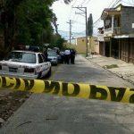 Escena del homicidio en Lomas de Miramonte. Foto Jaime Anaya