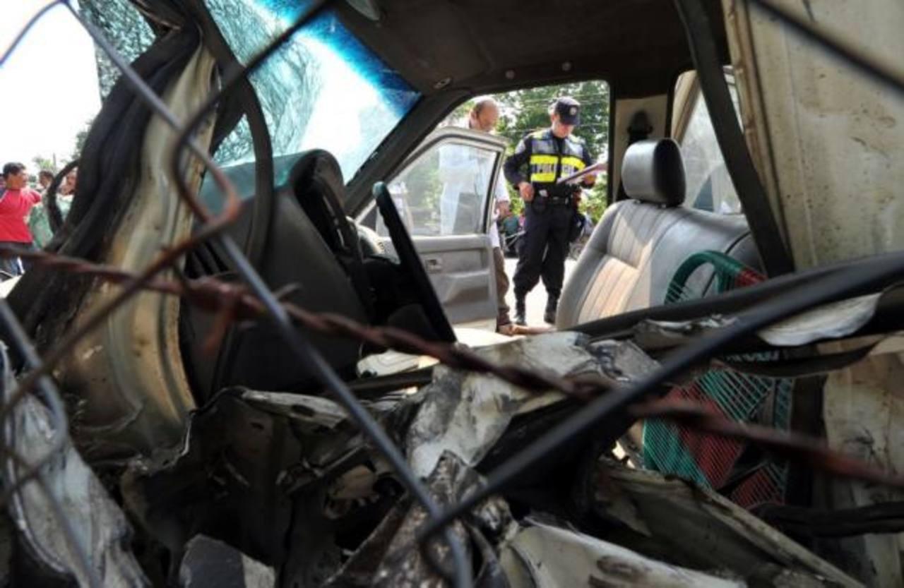 Dos muertos deja accidente vial en San Miguel