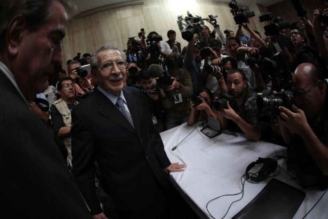 El exdictador guatemalteco José Efraín Ríos Montt, quien gobernó de facto el país entre marzo de 1982 y agosto de 1983. foto edh / reuters