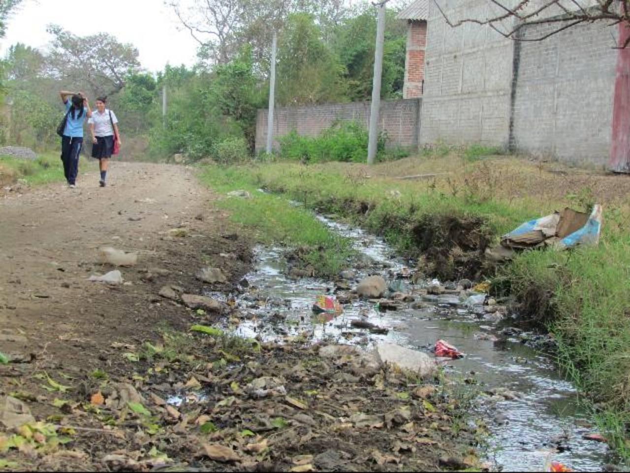 Los estancamientos de agua son el reflejo del problema. foto edh / MAURICIO GUEVARA