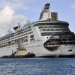 Grandeur of the Seas de Royal Caribbean se incendio la madrugada del lunes. Foto/ Reuters