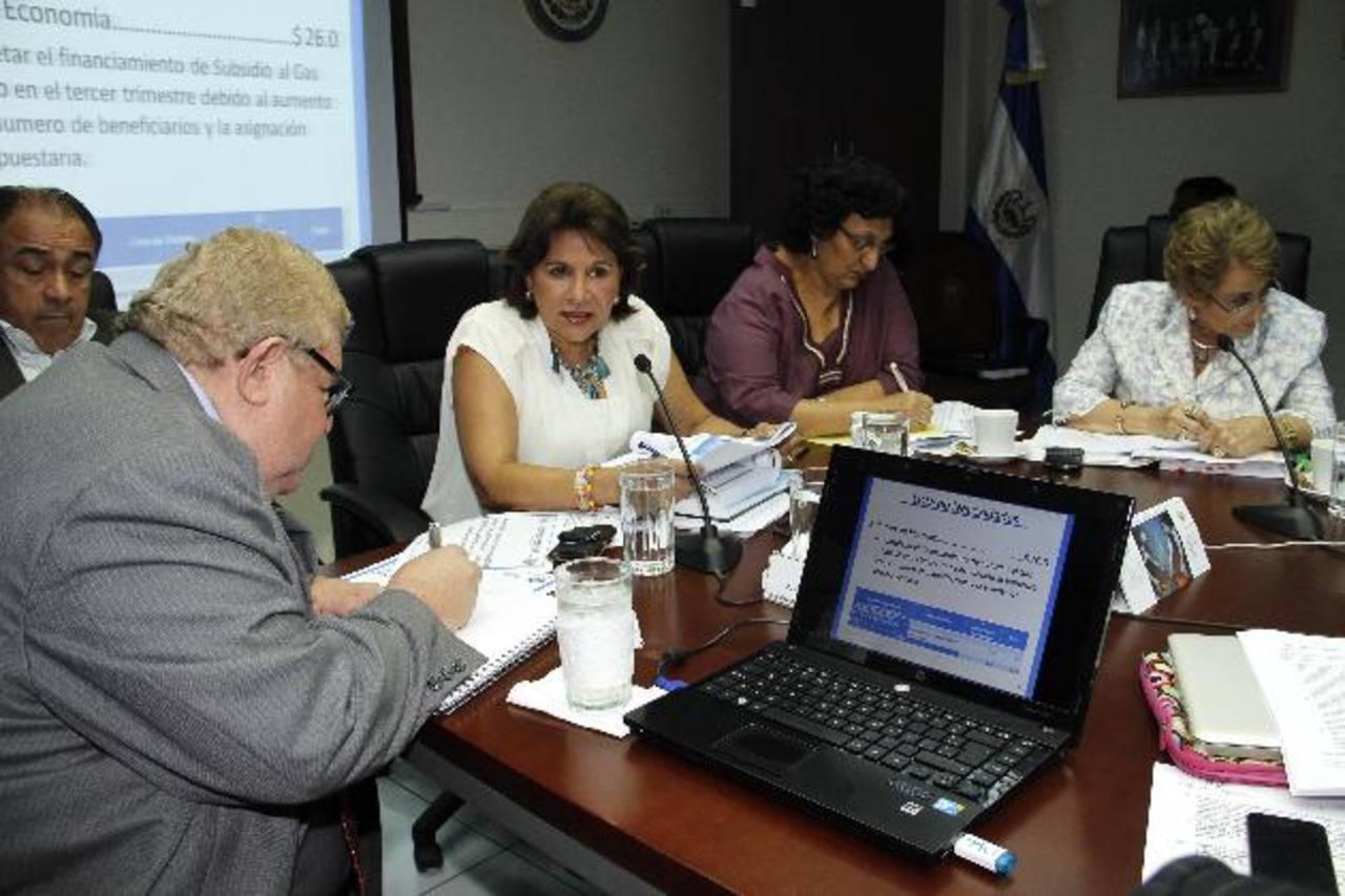 Titular de Hacienda, Carlos Cáceres (izquierda) en comisión de Hacienda, donde se analiza ley de Asocios. foto edh / archivo