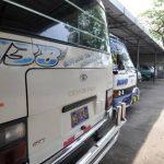 Microbuseros de la Ruta 138 suspendieron ayer el servicio de transporte por ser víctimas de las extorsiones por parte de las pandillas. Foto EDH / Éricka Chávez
