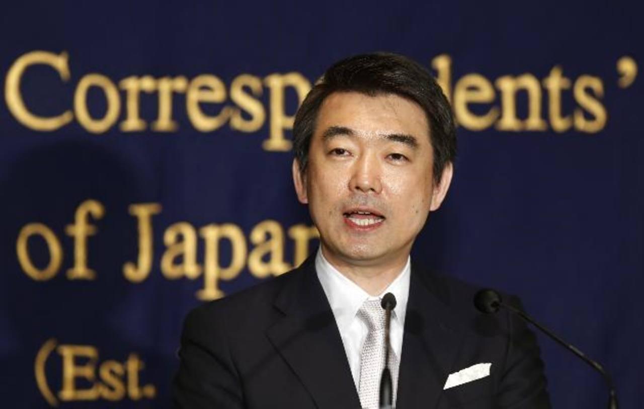 Toru Hashimoto, alcalde de Osaka. Foto/ AP