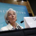 La directora gerente del Fondo Monetario Internacional (FMI), Christine Lagarde, habla durante una conferencia de prensa hoy, en la sede central del organismo en Washington. FOTO eXPANSIÓN/REUTERS.