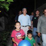 Norman Quijano, candidato presidencial tricolor y alcalde de San Salvador, inauguró ayer unas obras en la colonia Escalón. foto edh / lissette monterrosa