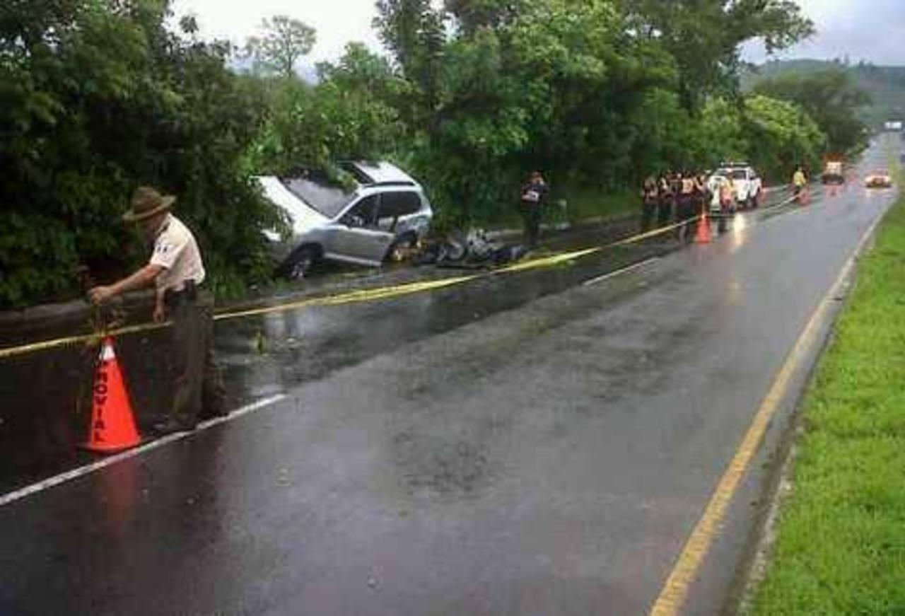 Jorge Meléndez fue atacado en la carretera que de Guatemala conduce a El Salvador. Foto / Tomada de Prensa Libre