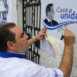 Antonio Saca inauguró ayer dos nuevas casa Unidad en el municipio de San Martín. Foto EDH / césar avilés