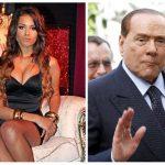 El expresidente italiano Silvio Berlusconi (der); a la izq. Karima El Mahroug, conocida como Ruby Rompecorazones. foto reuters