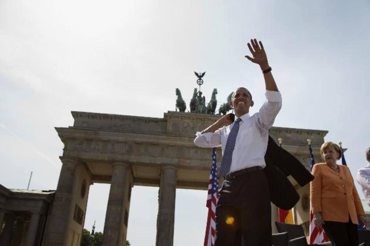 El presidente Barack Obama, en Berlín, Alemania.