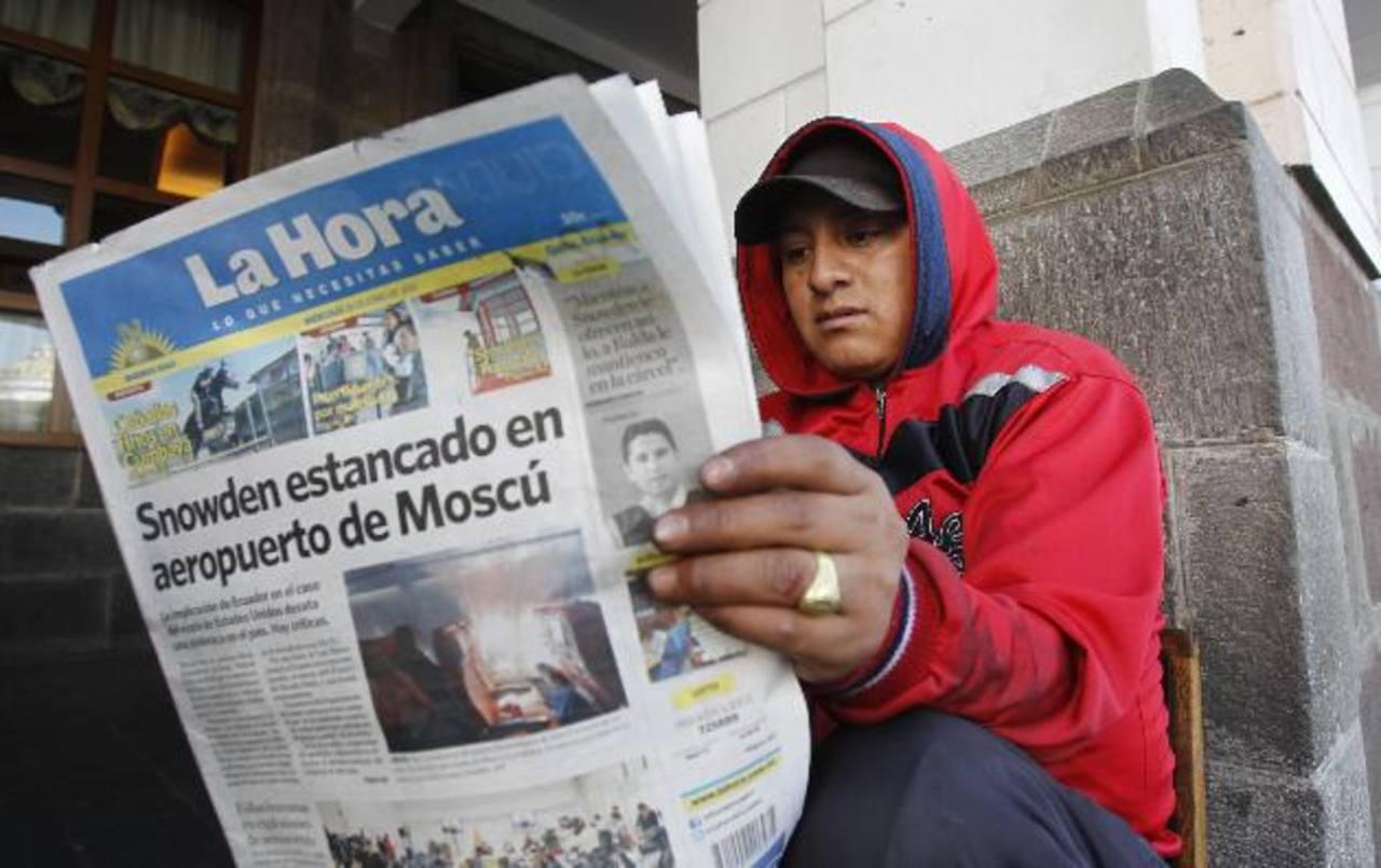 Los medios ecuatorianos dan seguimiento al exempleado de la CIA Edward Snowden. foto edh / AP