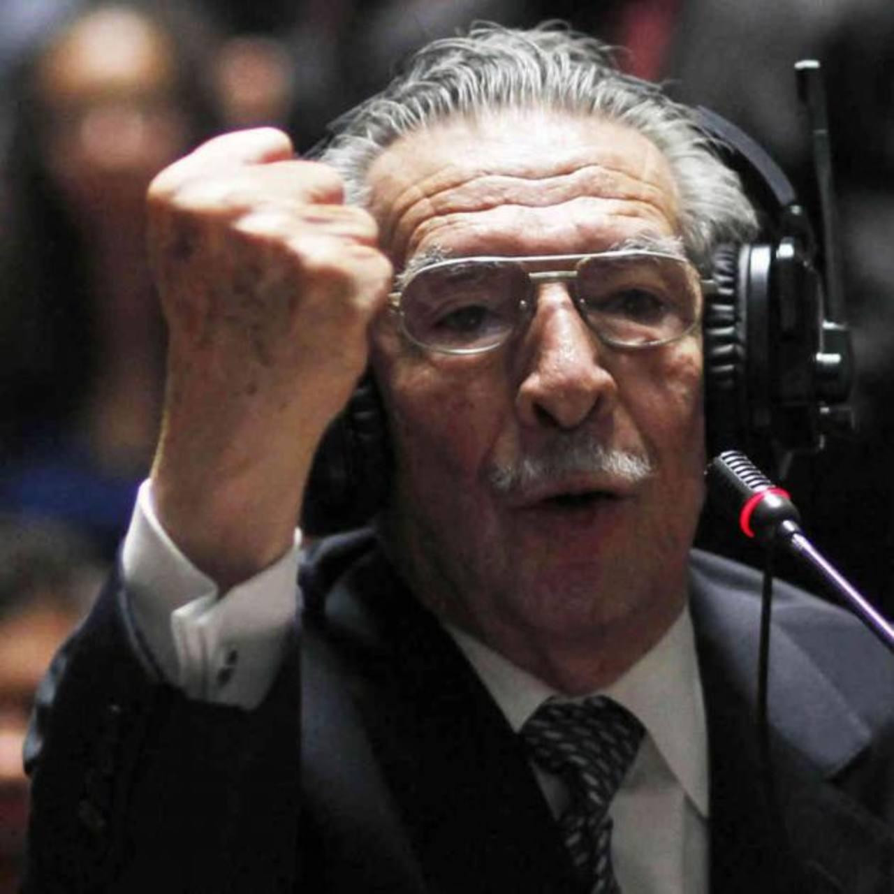 El exdictador José Efraín Ríos Montt acusado de genocidio. Foto edh / archivo