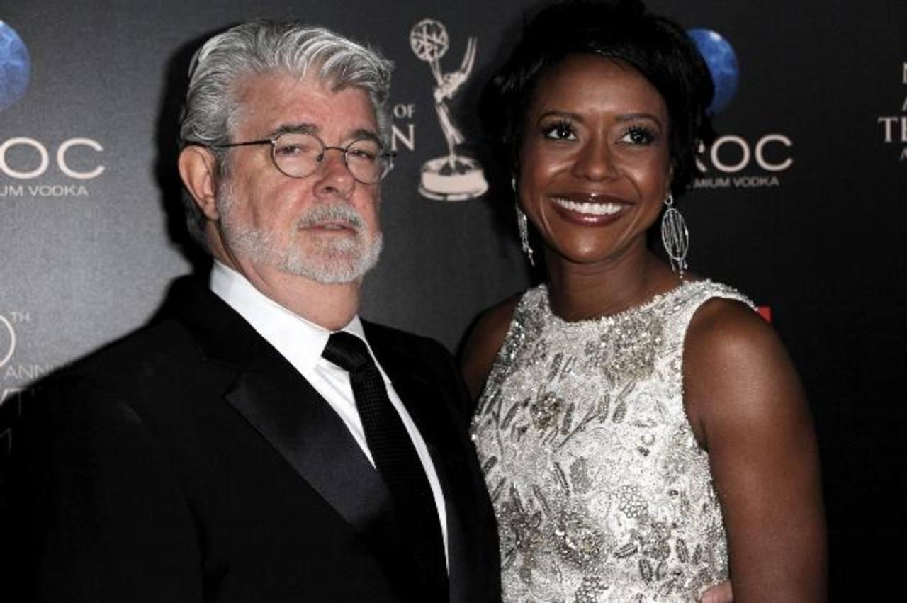 el cineasta George Lucas y Mellody Hobson . Foto/ AP