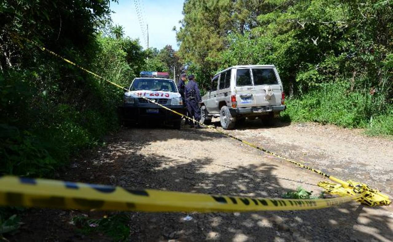 Sitio donde hallaron el cadáver del estudiante de 16 años en Panchimalco. Foto EDH / Jaime Anaya
