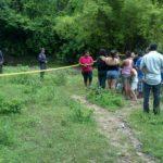 Escena donde fue encontrado hoy un adolescente asesinado en Santa Rita, Chalatenango. Foto EDH Jaime López