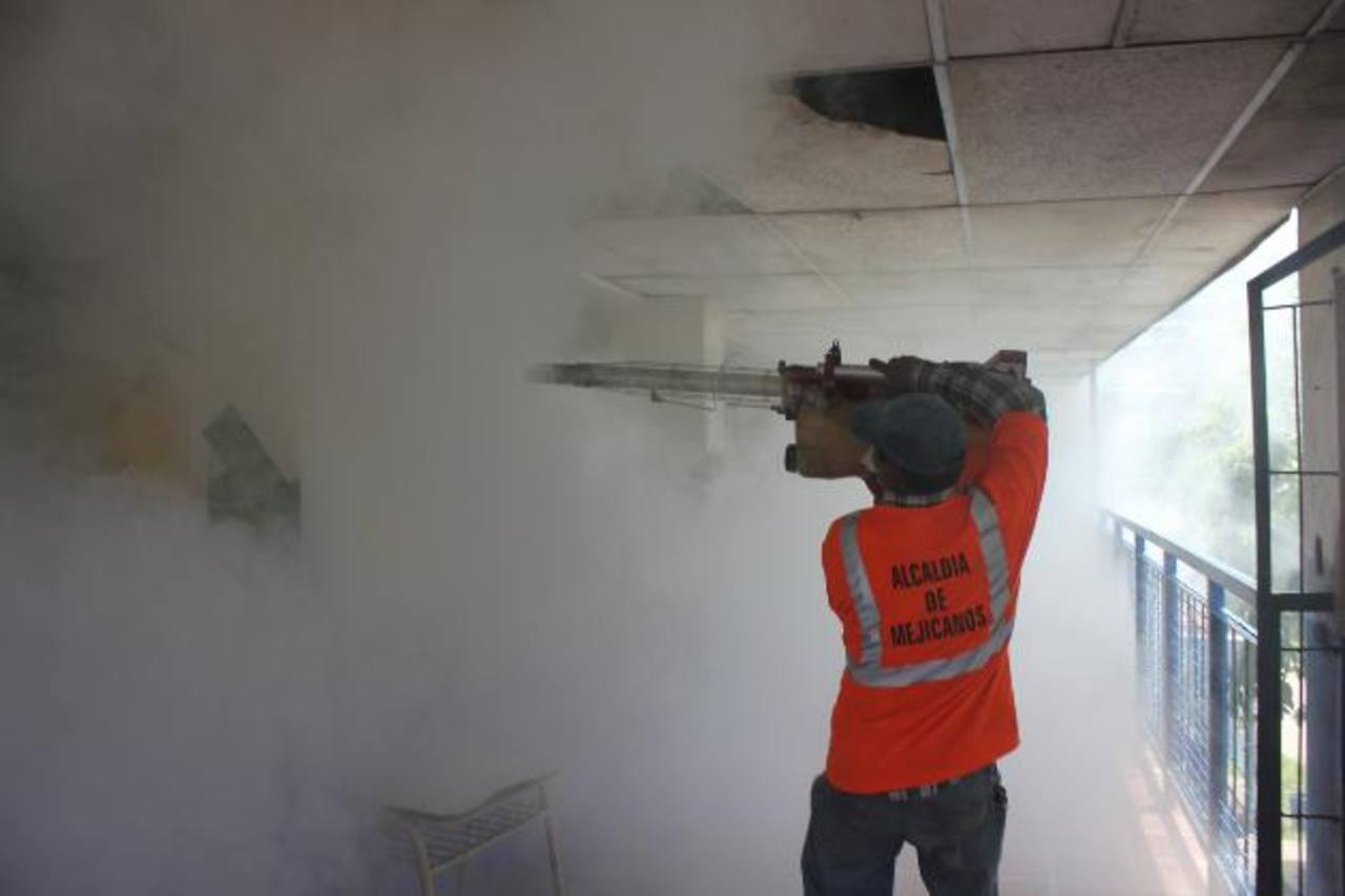 La jornada de fumigación inició el pasado jueves y finalizará el 15 de julio. Visitarán unas mil 500 viviendas. Foto EDH / cortesía
