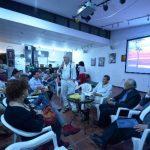 Los invitados conversaron sobre la importancia que tiene Salarrué para el arte salvadoreño. Foto EDH / Omar Carbonero