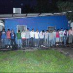 Pandilleros detenidos por diversos crímenes durante operativo en Chalatenango en las últimas horas. Foto PNC