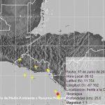 El MARN registró a las 9:12 am de hoy un sismo magnitud 5.3 frente a la costa de Nicaragua. Tuvo una intensidad de dos en San Salvador. Foto EDH
