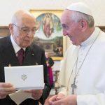 El Papa recibió al presidente de Italia, Giorgio Napolitano.