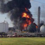 Explosión en la planta de químicos. Foto de @CherylMercedes