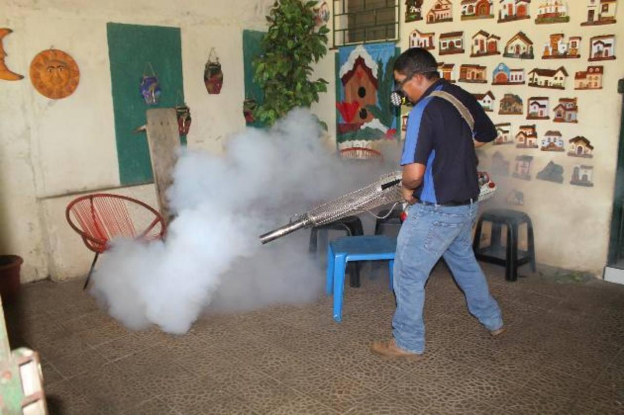 Las campañas de fumigación han estado enfocadas a prevenir el dengue. Foto EDH / Roberto Díaz Zambrano