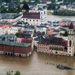 Partes de la ciudad de Passau inundadas por la crecida del río Danubio, en el sudeste de Alemania. Foto/ AP