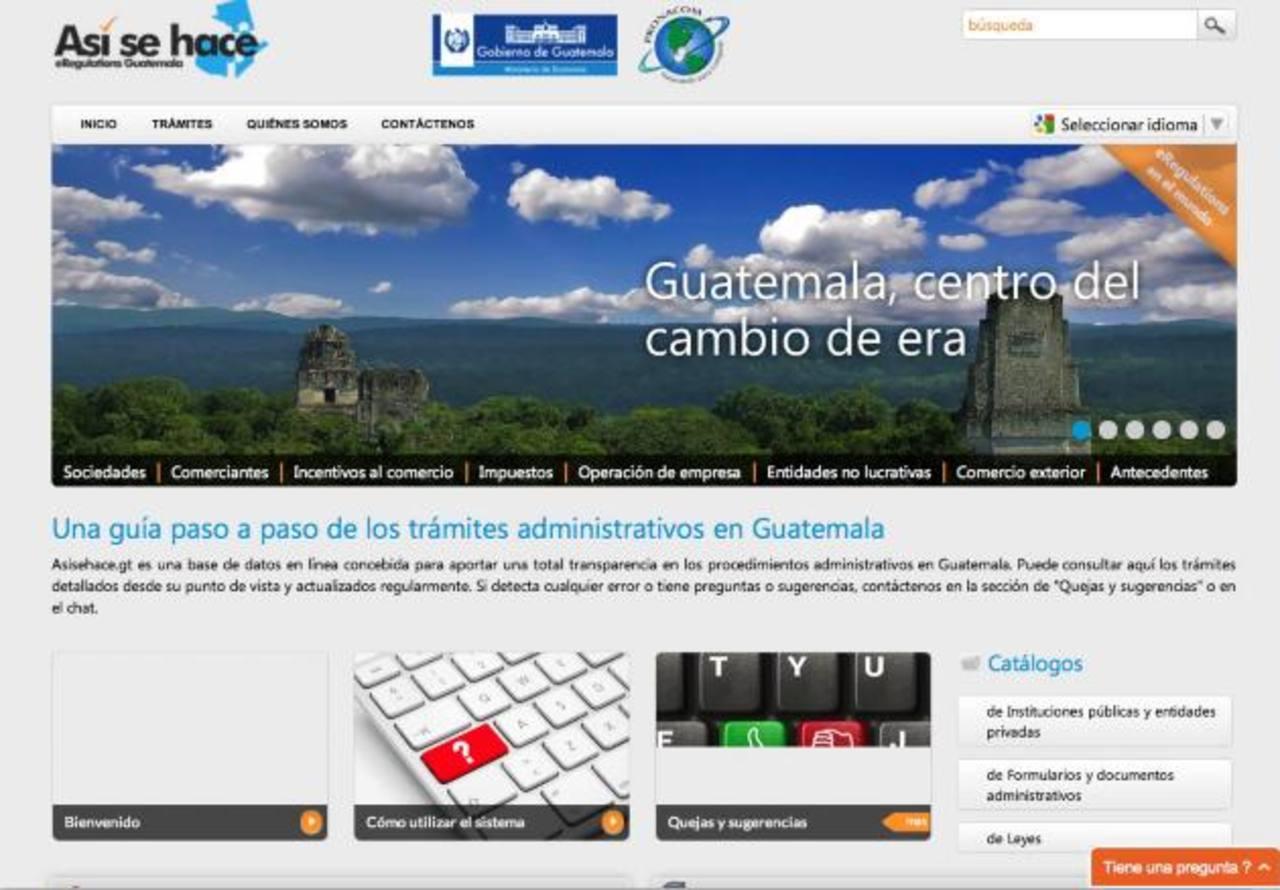 asisehace.com facilita procesos comerciales en Guatemala.