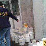 Más de 400 cubetas fueron inspeccionadas, pero solo en 12 encontraron la droga.