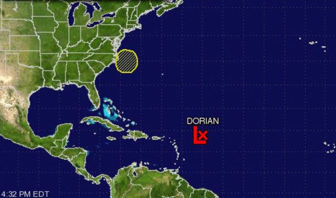 Tormenta Dorian se dirige al oeste en el Atlántico