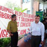 Desde el lunes, sindicalistas del hospital Zacamil han suspendido las labores administrativas. Foto EDH /Lissette Lemus