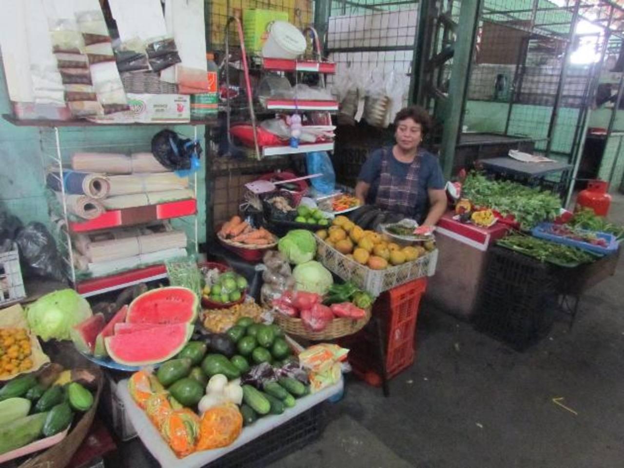 Aunque los comerciantes de los mercados ofrecen variedad de productos, los consumidores no llegan por falta de promoción y crisis económica, consideran. Foto EDH / Mauricio Guevara