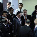El fiscal general Luis Martínez a su llegada a la Asamblea Legislativa para dar su informe anual de labores. Foto EDH / Jorge Reyes.